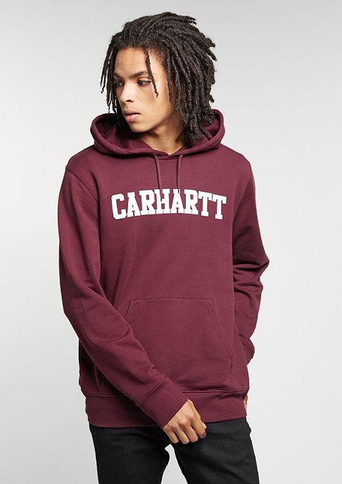 Carhartt WIP Hooded sweatshirt College chianti/white