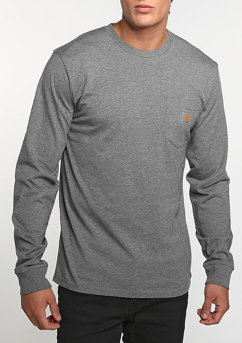 Carhartt WIP Longsleeve Pocket dark grey heather