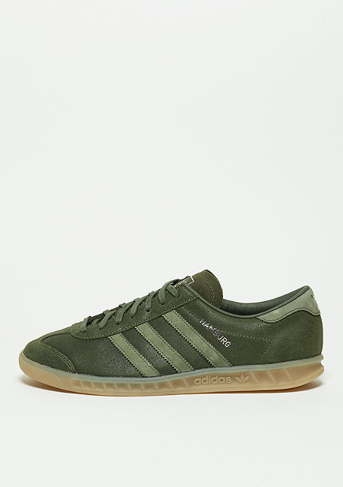 adidas Hamburg base green/base green/metallic silver