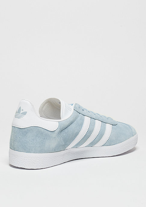 adidas Gazelle clear sky/white/gold metal