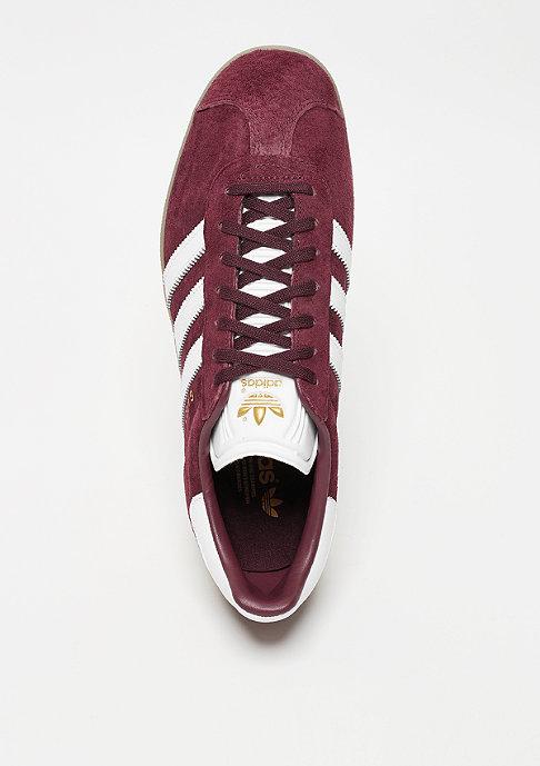 adidas Gazelle maroon/white/gold metal
