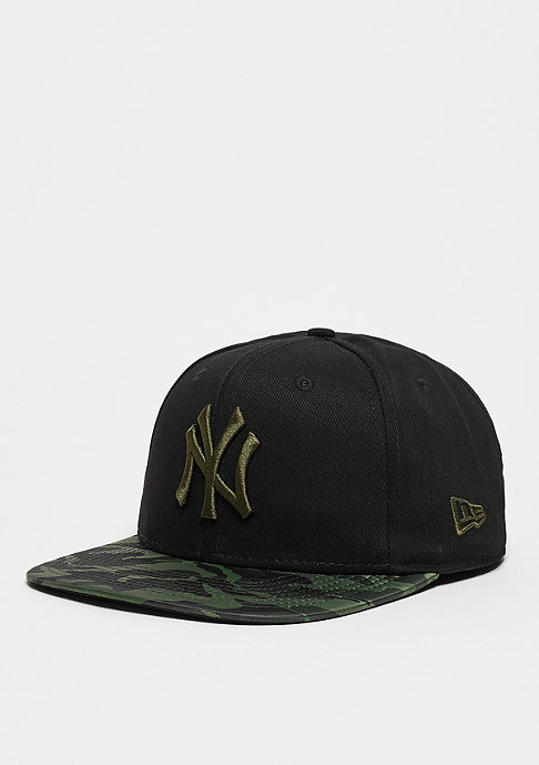New Era Nylon Camo Visor MLB New York Yankees