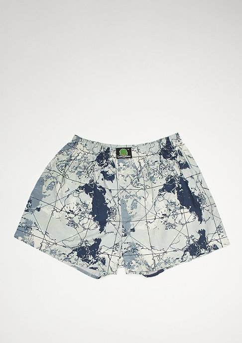 Treesome Boxershort World Camo blue