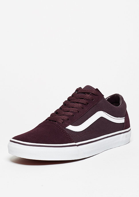 VANS Old Skool Suede Canvas iron brown/true white