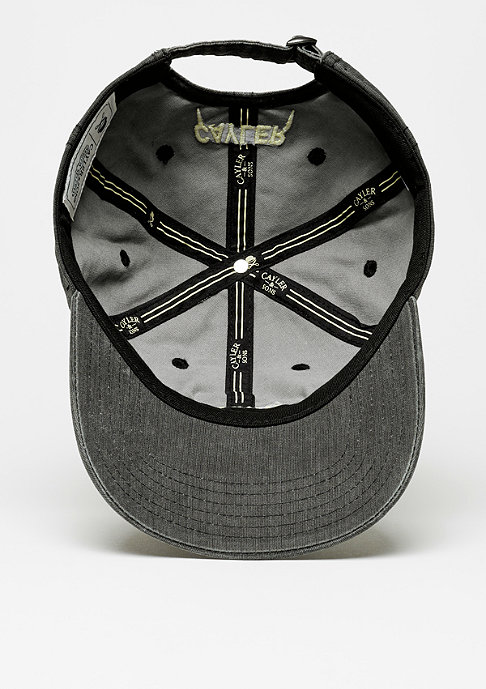 Cayler & Sons C&S Cap Partner In Crime Curved washed black/pale yellow