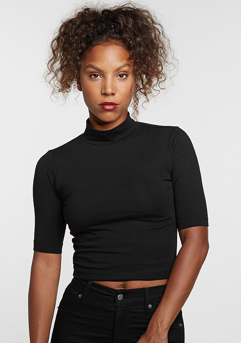 Urban Classics Cropped Turtleneck black