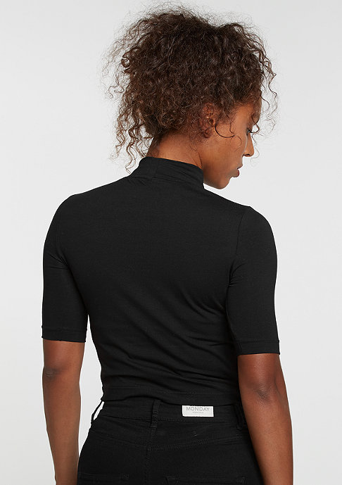 Urban Classics T-Shirt Cropped Turtleneck black