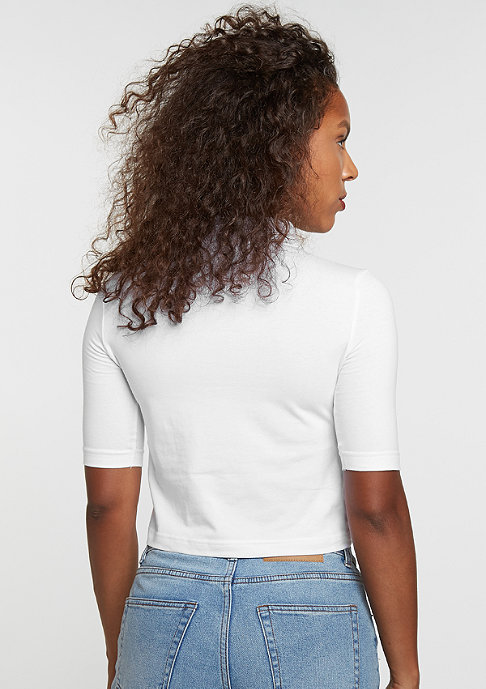 Urban Classics Cropped Turtleneck white