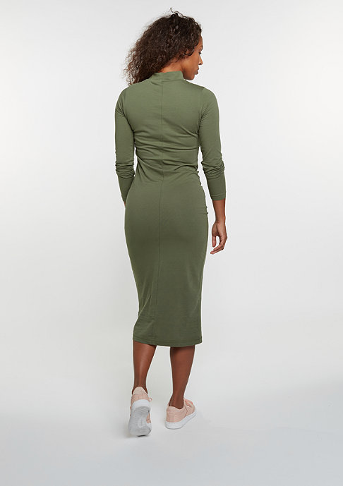 Urban Classics Turtleneck Longsleeve Dress olive
