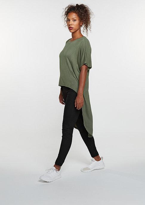 Urban Classics T-Shirt Viscose Oversized HiLo olive