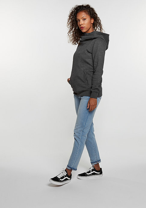 Urban Classics Hooded-Sweatshirt High Neck charcoal