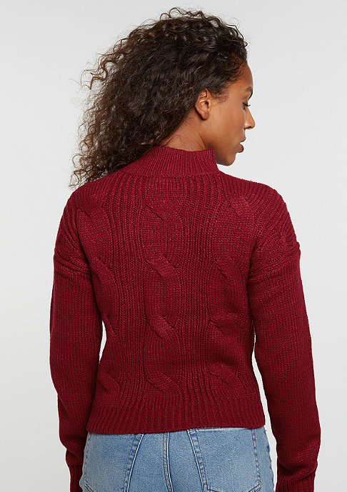 Urban Classics Sweatshirt Short Turtleneck burgundy