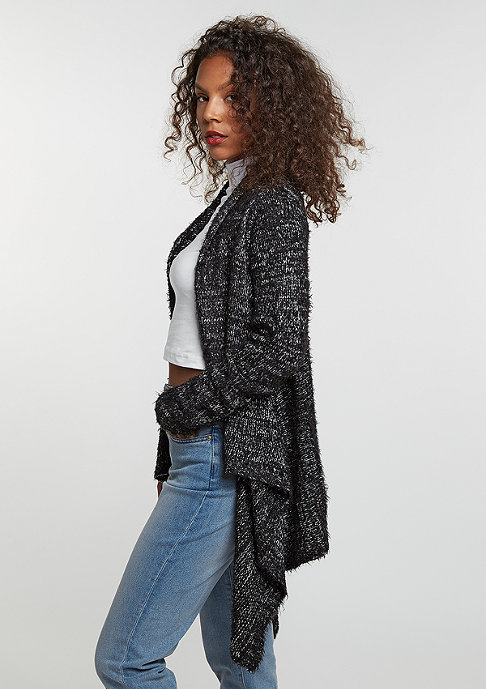 Urban Classics Strickpullover Knit Feather Cardigan black/white
