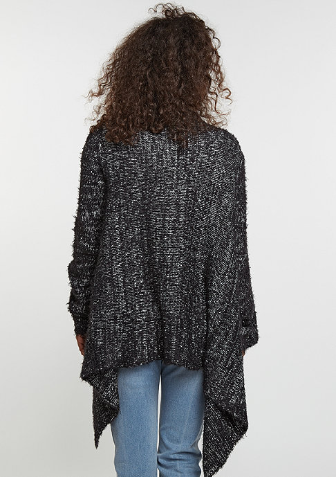 Urban Classics Strickpullover Knit Feather Cardigan black/white