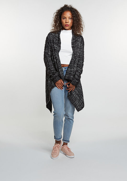 Urban Classics Knit Feather Cardigan black/white