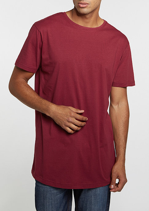 Urban Classics Shaped Long Tee burgundy