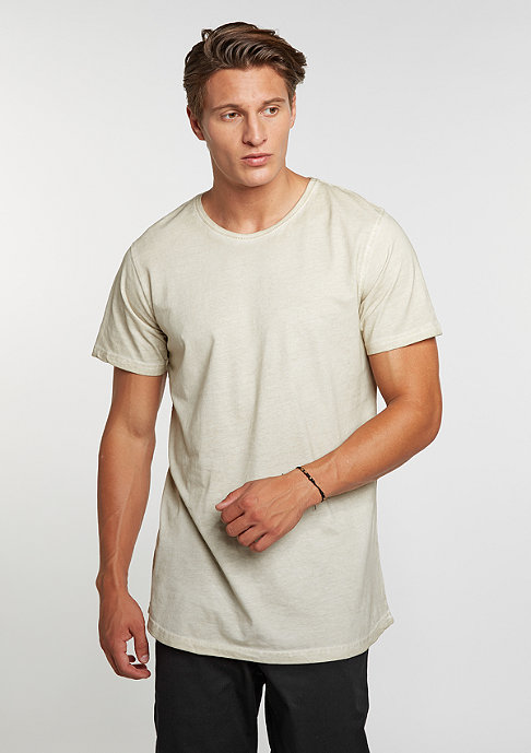 Urban Classics T-Shirt Shaped Long Cold Dye sand