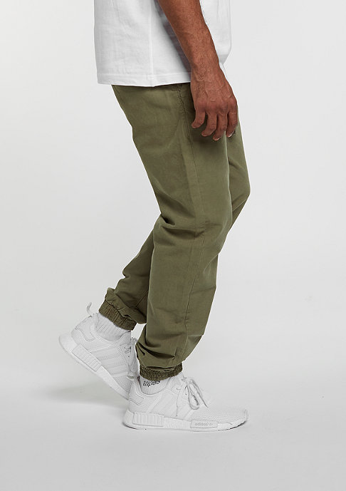 Urban Classics Trainingshose Washed Canvas olive