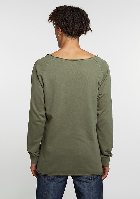 Urban Classics Sweatshirt Long Open Edge Terry olive