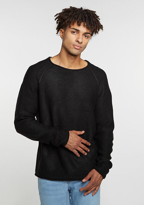 Urban Classics Sweatshirt Raglan Wideneck black