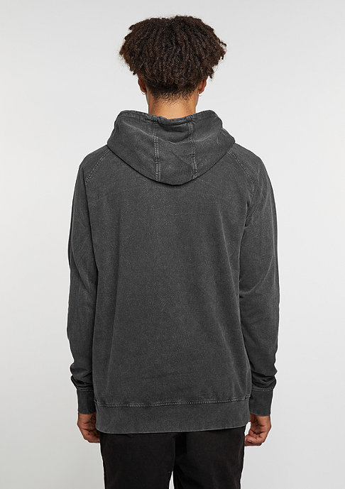 Urban Classics Hooded-Sweatshirt Acid Wash Raglan dark grey