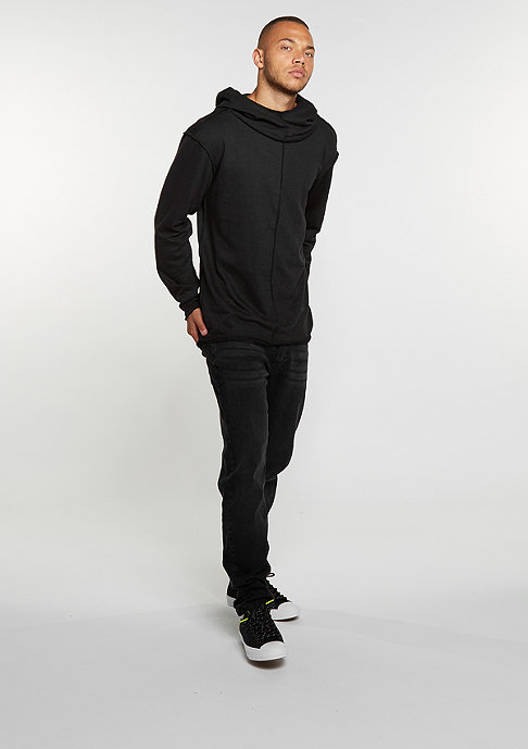 Urban Classics Hooded-Sweatshirt Long Slub Terry Open Edge black