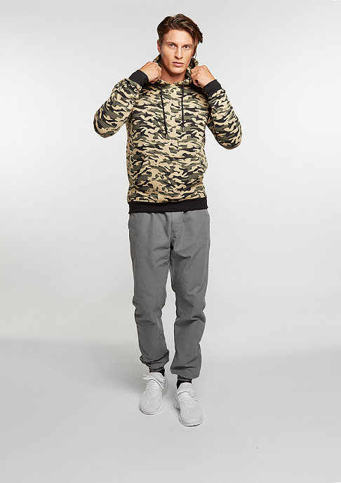 Urban Classics Hooded-Sweatshirt Sweat Camo Bomber wood camo