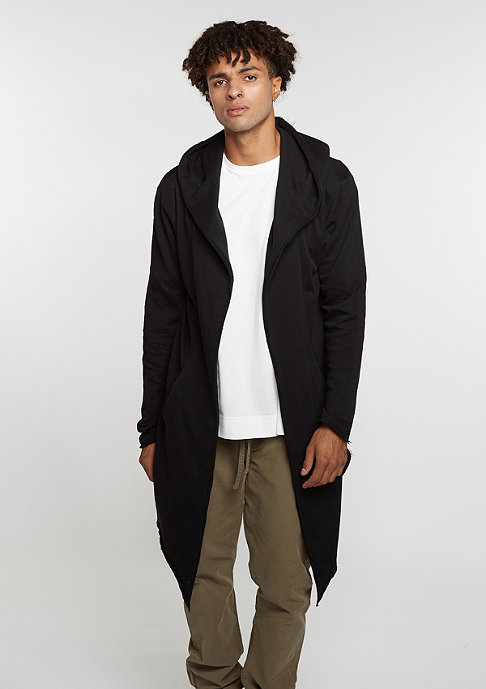 Urban Classics Long Hooded Open Edge Cardigan black