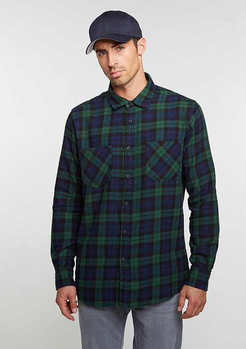 Urban Classics Checked Flanell 3 forest/navy/black