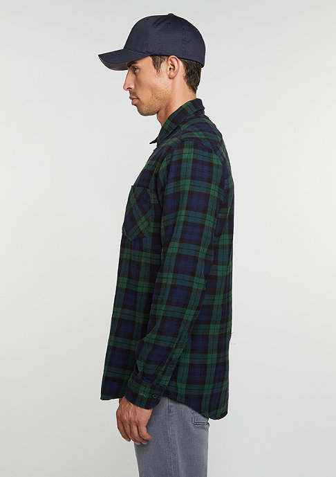 Urban Classics Hemd Checked Flanell 3 forest/navy/black
