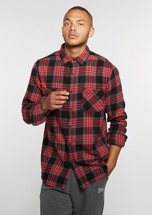 Urban Classics Hemd Checked Flanell 3 black/grey/red
