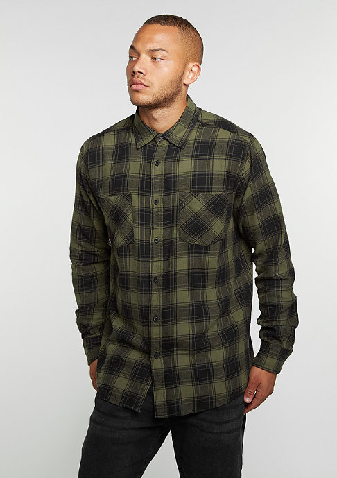 Urban Classics Hemd Checked Flanell 3 black/olive