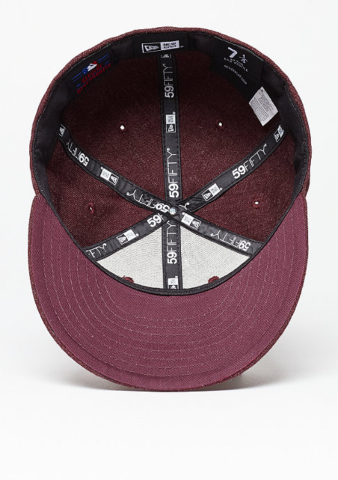 New Era Fitted-Cap Low Crown 59Fifty MLB New York Yankees heather maroon/black