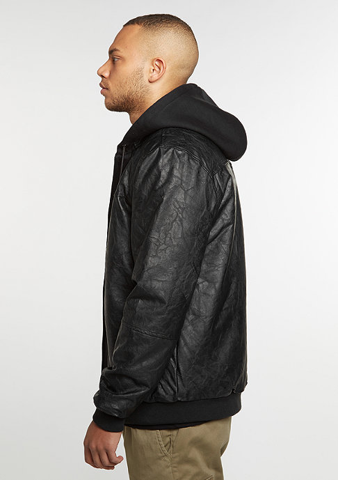 Pelle Pelle Mix Up Hooded pitchblack