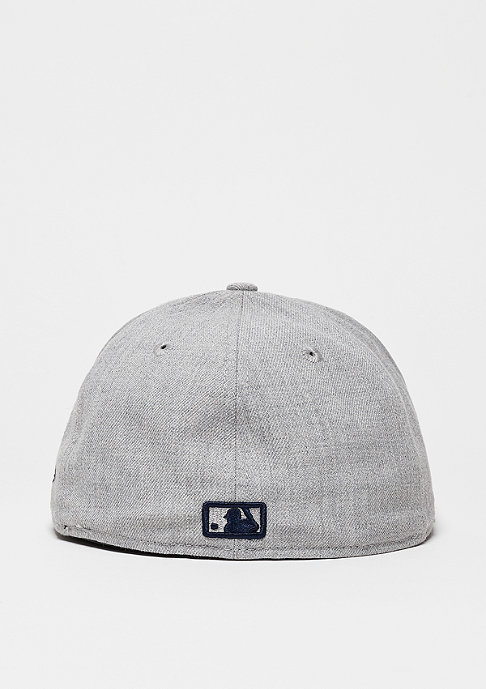 New Era Fitted-Cap Heather Contrast MLB New York Yankees heather grey