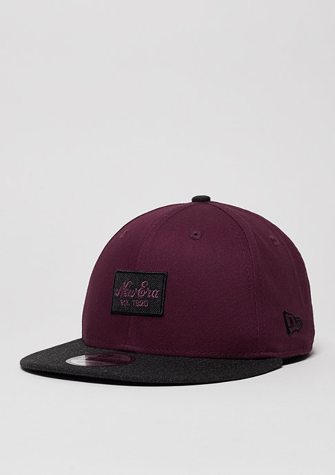 New Era Contrast Heather Patch maroon/black