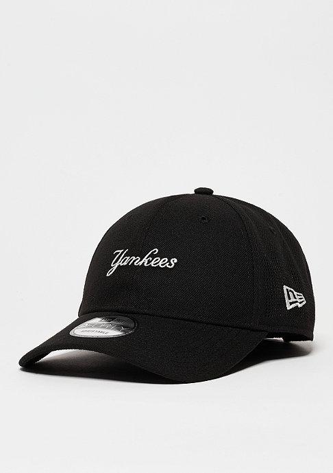 New Era Baseball-Cap Side Perf Script MLB New York Yankees black