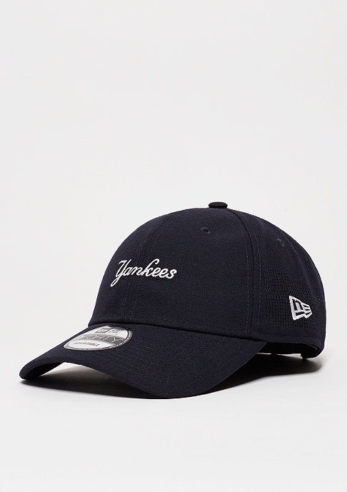New Era Baseball-Cap Side Perf Script MLB New York Yankees navy