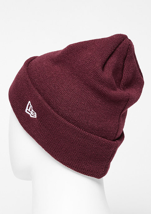 New Era Rubber Patch Cuff maroon