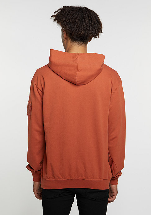 Criminal Damage Hooded-Sweatshirt Desert ginger/ginger