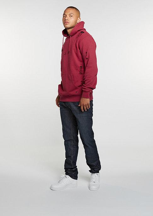 Criminal Damage Hooded-Sweatshirt Shoreditch dark/ruby