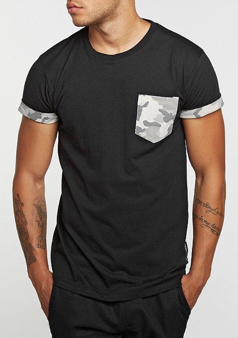 Criminal Damage T-Shirt Hunter Pocket black/camo/stone