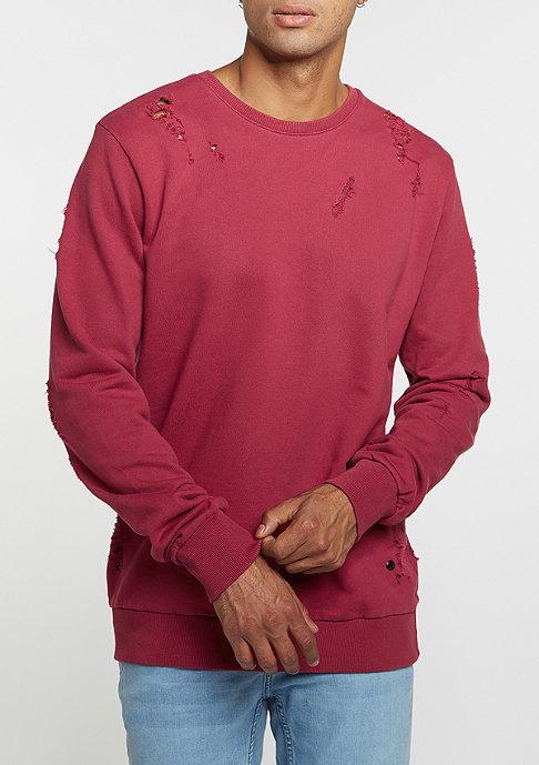 Criminal Damage Sweatshirt Shoreditch dark/ruby