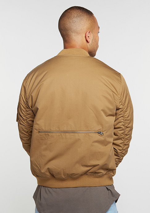 Criminal Damage Übergangsjacke Airforce Bomber sand/sand