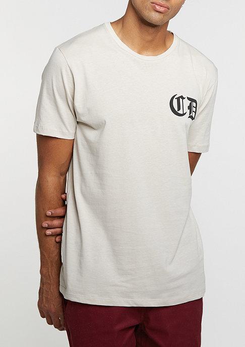 Criminal Damage T-Shirt Whitechapel light nude/black