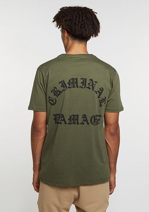 Criminal Damage T-Shirt Whitechapel olive/black