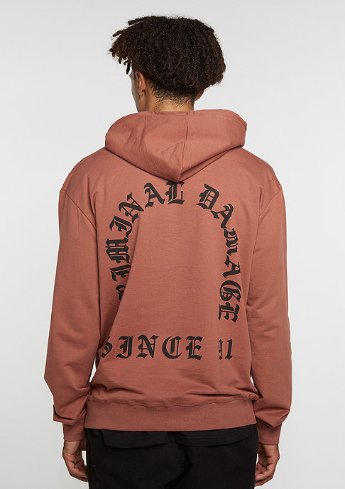 Criminal Damage Hooded-Sweatshirt Grave rust/black
