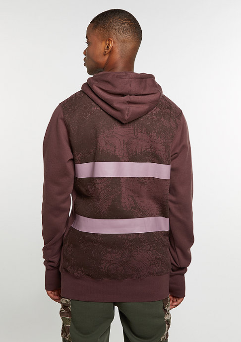 Cayler & Sons Hooded-Sweatshirt BL Our Father Long washed taupe/old pink