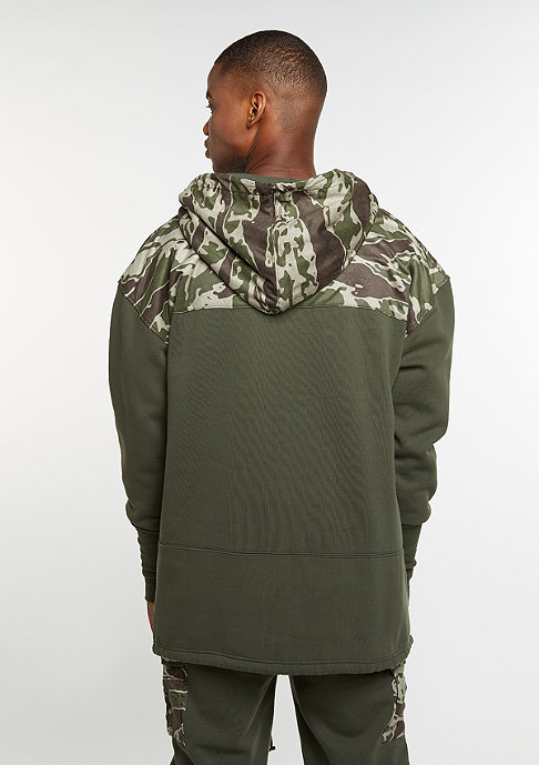 Cayler & Sons C&S Hoody CSBL Section Loose Fit Half Zip olive/tiger camo