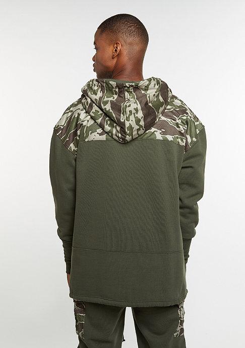 Cayler & Sons Hooded-Sweatshirt CSBL Section Loose Fit Half Zip olive/tiger camo